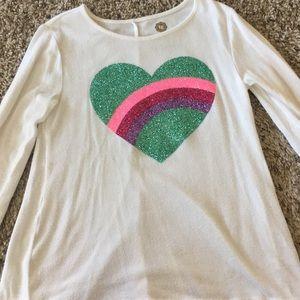 Rainbow heart tunic